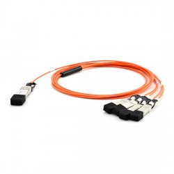 Customized 40G QSFP+ to 4 Duplex LC/SC/ST/FC Breakout Active Optical Cable