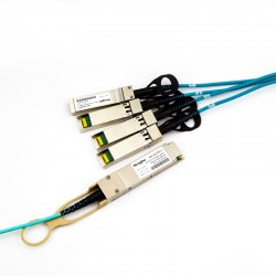 1m 40G QSFP+ to 4x10G SFP+ Breakout Active Optical Cable